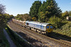 4th Nov 13:  66623 'Bill Bolsover' runs down the 1 in 104 to Bradford Junction with 4M40 Westbury to Stud Farm empties
