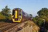 15th Oct 13:  1F03 is the 06.28 FGW service from Cardiff to Portsmouth Harbour, seen in the hands of 158950 as it nears Dilton Marsh