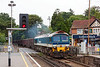 10th Sep 13:  Captured crossing the A30 at Sunningdale is 59104 on the point of 7Z20 the 10.55 from Grain to Merehead
