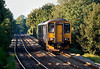 23rd Sep 13:  2F98 is the 16.46 from Bristol Parkway to Warminster pictured here on the approach to Dilton Marsh