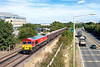 2nd Sep 13:  59203  at the helm of 7Z20 from Grain to Merehead runs beside the A329 as it leaves Bracknell
