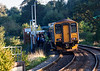23rd Sep 13:  Passengers alight at the Request Stop only 'Dilton Marsh' from  2F98  the 16.46 from Bristol Parkway to Warminster.  The platform lights and the shelter do actually lean at this angle !