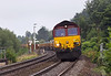 26th Sep 13:  66030 woth 66005 out of sight drops down through Dilton Marsh with 6V41 the 14.45 Departmental from Eastleigh to Westbury