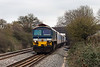 10th Mar 14:  59102 running through the site of Edington & Bratton Station with 7C31 from Theale to Merehead