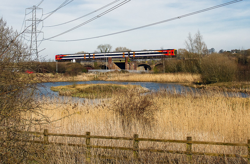 8th Mar 14:  The 12020 From Waterloo to Bristol Temple Meads,1V33, is running on time as it passes through Yarnbrook