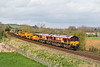 24th Mar 14:  Pictured at Little langford are 66174 & 66037 heading 6O41 to Eastleigh from Westbury