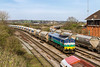 29th Mar 14:  Viewed from over the shed roof (59103) 59001 arrives at Westbury with 6A63 from Avonmouth Bennetts Siding to Westbury