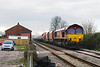 10th Mar 14:  66158 on the point of the Whatley to Hothfield stone throu the site of Edington and Bratton Station.