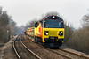 12th Mar 14:   70804 throbs up the bank through Dilton Marsh with 6Z30 Departmental from Westbury to Eastleigh