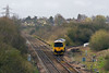 25th Mar 14:  2Q08 is working from Bristol to Taunton, having been to Whatley Quary and back to Westbury 950001, captured at Clink Road Junction,  is now on it's way to Merehead via Frome station.