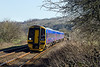 9th Mar 14:  the 11.36 Portsmouth Harbour to Cardiff formed of 158960 slows for the Freshford stop