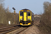 19th Mar 14:  Sprinting away from Fairwood Junction is 150239 as the 12.50 (2O90) from Great Malvern to Weymouth