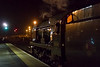 23rd Apr 14:  On the return leg of 'The Cathedrals Express  from Andover to Stratford on Avon 34046 'Braunton' draws to a halt at Westbury.  Shot settings were 1/400 @ f1.4,  iso 6400