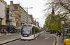 26th Apr14:  Tram 253 running west along Princes Street in Edinburgh