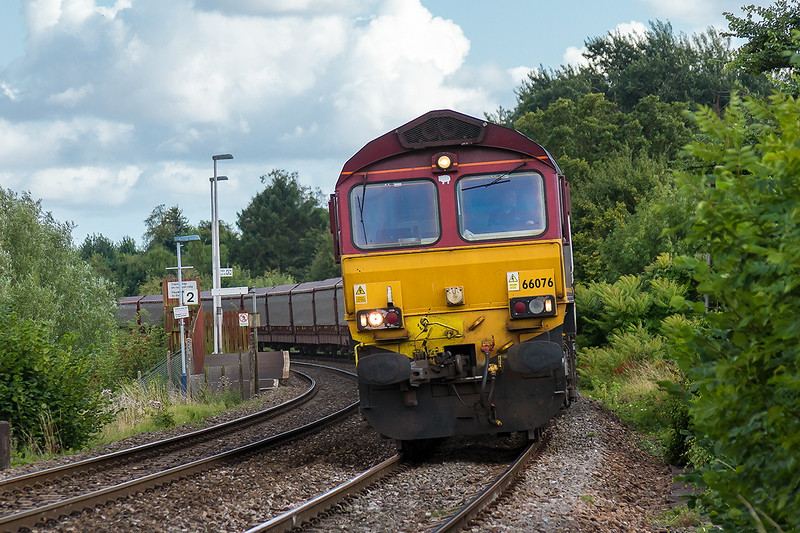 17th Aug 14:  STVA car carriers are not normally see nat Dilton Marsh so 66076 on the diverted 6Z44 from Southampton Eastern Docks to Halewood was some thing not to be missed