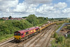 3rd Aug 14:  Arriving back at Westbury are 66093 TnT 66051 with 6W16 empty JNAs deom Oxford Road in Reading