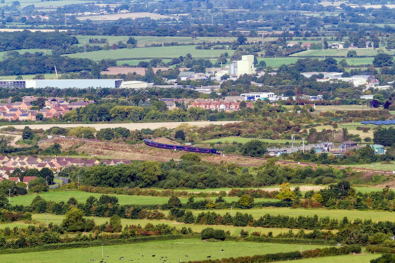 23rd Aug 14:  Tthe diverted 08.12  Paddington to Briastol Temple Meads, C06, takes the East chord at Heywood Road Junction