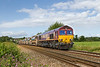 3rd Aug 14:  66207 TnT 66849 at Fairwood with 6C01 from Maiden Newton to Westbury