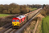 16th DEc 14:  59206 heads  the aftrnoon Jumbo empties (7C77) from Acton to Merehead at Woodborough.