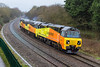 17th Feb 14:  70801 is now pictured at Ladydown taking 56113 and 56094 to Bristol Barton Hill