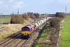 28th Feb 14:  Running through Bourton is 66080 heading 6B35 from Hayes to Moreton on Lugg