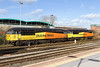 16th Feb 14:  Colas pair 56094 and 56113 between duties at Westbury