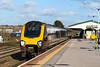 16th Feb 14:  An unidentified Cross Country Voyager runs through Platform 3 at Westbury with the diverted 1S32 the 12.35 Exeter to Edinburgh