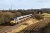 25th Feb 14:  The 06.00 Leeds to Exeter  Cross Country service with 43321 on the front is at Fairwood Junction.  A land slip on the New Line, AKA The Avoider, has closed the Down Line hense the rusty rail.r