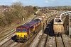 16th Feb 14:  Arriving from the the Berks and Hants line is 66109 with Auto Balasters from Oxford Rad Junction