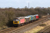 25th Feb 14: Pictured at Fairwood being transferred from Meldon to Derby Gas Sidings by 20189 & 20142 are 47375, 31459 & 47769