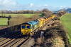 9th Jan 14:  66550 works west through Fairwood with 6C73 from Westbury to Fairwater Yard in Taunton