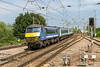 16th Jul 14:  Getting away from Manningtree is 90007 pushing 1P34 the 14.00 Liverpool Street to Norwich