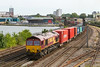 2nd Jul 14:   66061 heads north through St Denys with 4E70 Southampton Western Docks to Wakefield