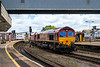 8th Jul 14:  66221 in chaarge od 4V70 from Ratclffe to Portbury runds through Brisitol Temple Meads station
