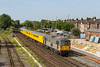 2nd Jul 14:  Network Rail test train with 70107 TnT 73109 at Eastleigh;   Startin from Woking the itinery was Waterloo, Southampton, Waterloo. Shalford'