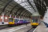 3rdJun 14:  142078 & 142022 in Darlington's platforms 2 & 3 await the call of duty