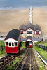 1st Jun 14:  Built in 1883 the Saltburn Cliff Railway, powered by wate,r drops 170 feet tp the pier