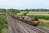 26th; Jun14: ' Almost there'.; 66140 with 66110 on the tail at Fairwood Jinction . The LWR set had started from St Erth and ends the trek at Westbury