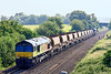 22nd Jun 14:  Acting as tail gunner on 6C04 from Maiden Newton to Westbury is 66848  with 66127 on the point