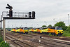 26th May 14:  A Colas 70 fest.  L to R  70809/08/05/07/06