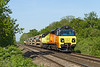 16th May 14:  70804 TnT 70807 are nearly home after their trip to St Erth.  6C65 is pictured at Fairwood
