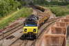 25th May 14:  Not the planned shot, there were too many boxes on the right but more importantly it was directed into the Down Yard, hense the head on view.  Theis is only incuded as it was the 2nd of the 4 Colas 70 powered departments booked to work back tp Westbury from Gaer Junction during the day and I wanted shots of them all running in numerical order.