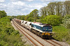 14th May 14:  59103 'Village of Mells' on the point of 7A17  from Merehead to Acton on the grade through the site of Patney and Chirton Station
