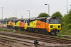 2nd May 14:  Having arrived overnight New Colas locos 70806 & 70807 together with 70801 are pictured at Westbury