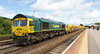 7th May 14:  66597 waits ready to leave Westbury as 6C73 for Faiwater Yard