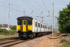 5th May 14:  The 10.39 from Hertford East in the hands od 317657 is pictured between Cheshunt and Waltham Cross from the Trinity Lane crossing