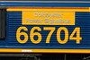 23-1st Apr 2015:  66704 'Colchester Power Signalbox' name plate at Westbury