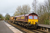 3rd Apr 2015:  Running as 6X37 because of  Point Carriers in the consist the moring Departmental to Eastleigh from Westbury  powered by 66085 passes through Warminster
