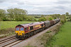 25th Apr 2015:  6V62 from Tilbury to Llanwern is booked to be a Colas 60 but not today.  66112 was the surprise power, captured here at Great Cheverell.  I missed the sun for all 3 shots taken in this area .  Some you loose eh!!