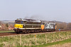 9th Apr 2015:  31190 is seen in the Wylye Valley ar Bapton moving 50035 'Ark Royal'  from Eastleigh Arlington Zg to DerbyR.T.C. (fragonset).